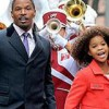 Annie with Quevenzhane Wallis and Jamie Foxx